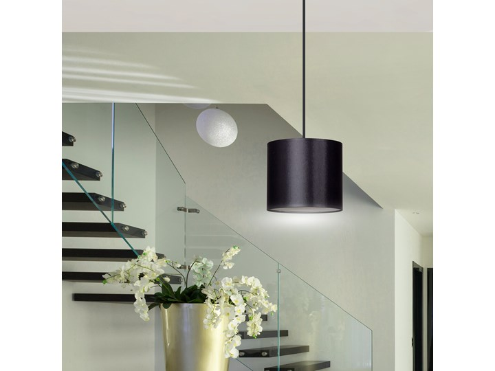 BERYL 1 BL BLACK lampa wisząca abażur regulowana wysokość różne kolory Metal Funkcje Brak dodatkowych funkcji Lampa z abażurem Kategoria Lampy wiszące
