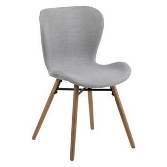 Krzesło jadalniane na drewnianych nogach Hudson light grey