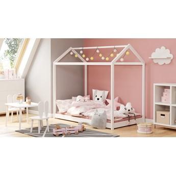 Białe łóżko dziecięce w kształcie domku Yogi