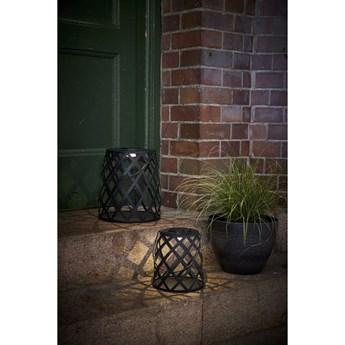 Czarny lampion LED Star Trading Calabria, wys. 28 cm