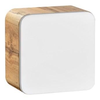 Bettso Wisząca szafka mini 1D Aruba White - Biały połysk + dąb craft złoty