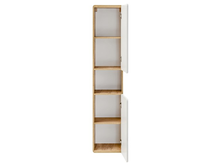 Bettso Zestaw do łazienki Aruba White 80 - Biały połysk + dąb craft złoty Płyta laminowana Płyta MDF Kategoria Zestawy mebli łazienkowych