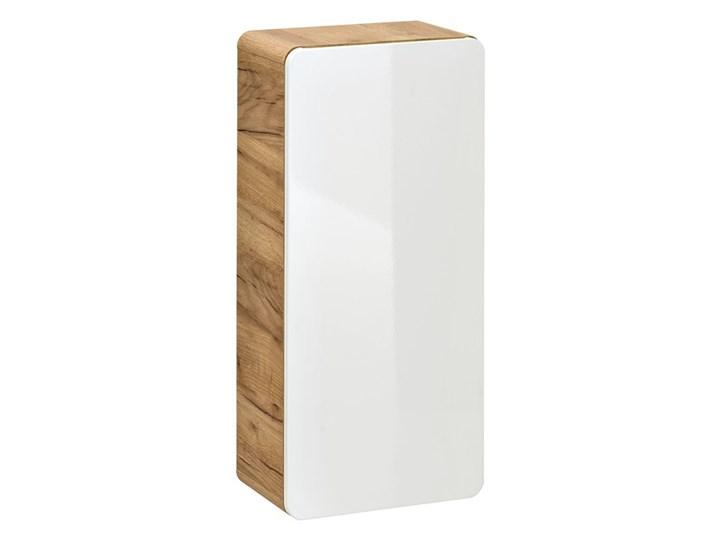 Bettso Zestaw do łazienki Aruba White 80 - Biały połysk + dąb craft złoty Płyta MDF Płyta laminowana Kategoria Zestawy mebli łazienkowych