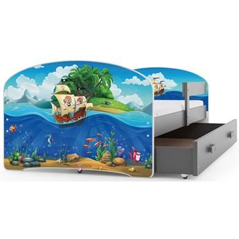 Łóżko z materacem dla dzieci 2 rozmiary - Delmo