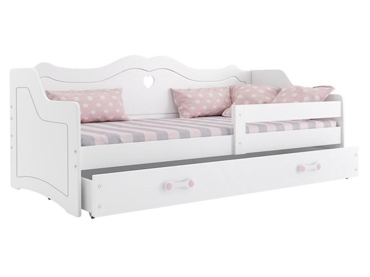 Białe łóżko dla dziewczynki - Fiki Płyta meblowa Płyta MDF Drewno Kolor Biały