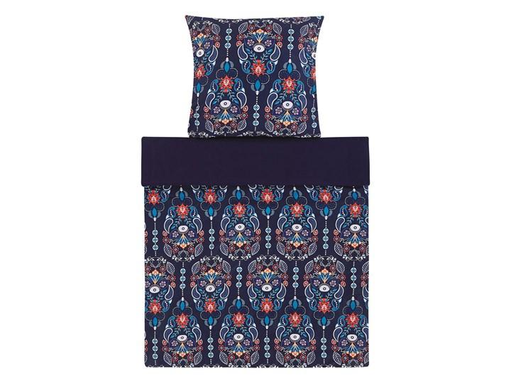 Zestaw pościeli z poszewkami niebieski kwiatowy wzór bawełna 135 x 200 cm do sypialni