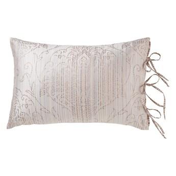 Poduszka dekoracyjna 40x60 cm Kamika greige, z bocznym zapięciem, bawełniana, Curt Bauer