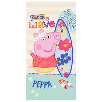 Ręcznik dziecięcy frota 70x140 Świnka Peppa Wakacje, Setino