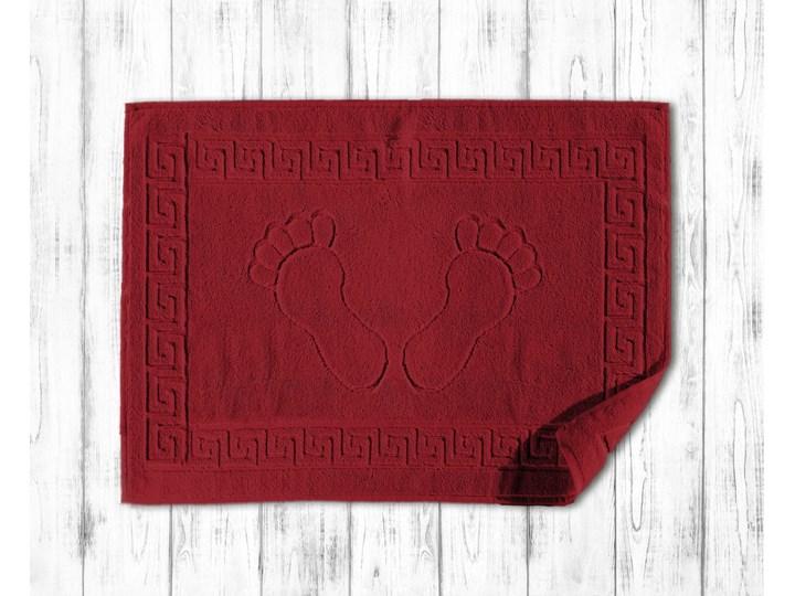 Darymex Dywanik łazienkowy 50x70 Klucz Grecki kolor czerwony 50x70 cm Prostokątny Bawełna Kategoria Dywaniki łazienkowe