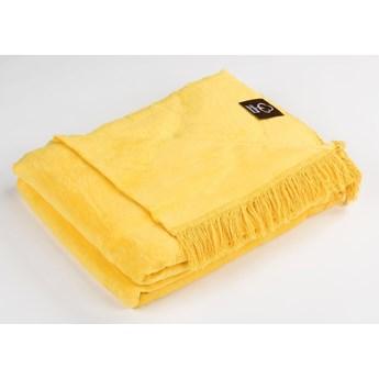 Cotton Cloud Koc bawełniany 150x200 kolor żółty