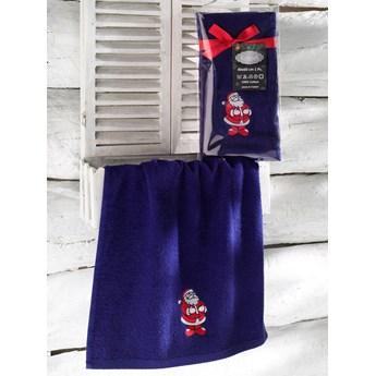 Bilge Ręcznik bawełniany haft 3409 V1 NOEL 1x40x60 DARK BLUE