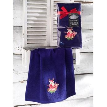 Bilge Ręcznik bawełniany haft 3409 V2 NOEL 1x40x60 DARK BLUE