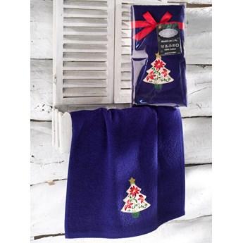 Bilge Ręcznik bawełniany haft 3409 V3 NOEL 1x40x60 DARK BLUE