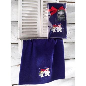 Bilge Ręcznik bawełniany haft 3409 V4 NOEL 1x40x60 DARK BLUE
