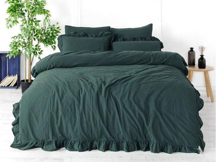 Limasso Pościel bawełniana 200x220 Exclusive, Dark Green 200x220 cm Pomieszczenie Pościel do sypialni Komplet pościeli Bawełna Kolor Zielony