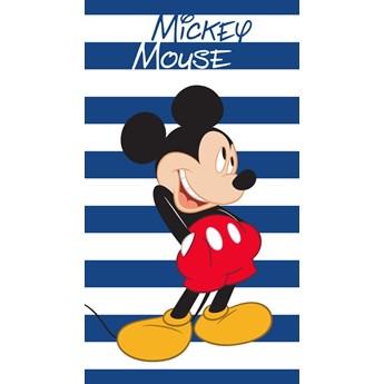 Ręcznik dziecięcy frota 70x140 Myszka Mickey pasy, Faro