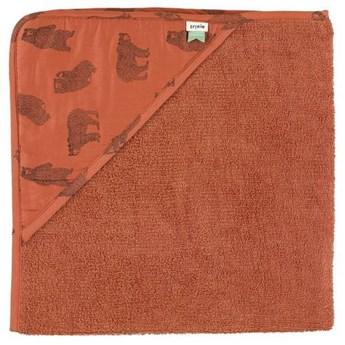 Ręcznik z kapturem Brave Bear 75x75 cm, Trixie Baby
