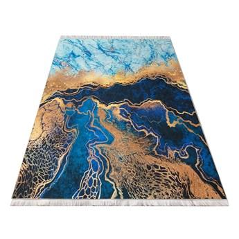 Dywan poliestrowy 80x150 cm niebieski Horeca 11