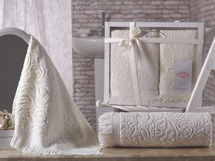 Bilge Ręcznik bawełniany frotte ESRA/1687/cream 50x90+70x140 kpl. Komplet ręczników Ręcznik kąpielowy 50x90 cm 70x140 cm Bawełna Kategoria Ręczniki