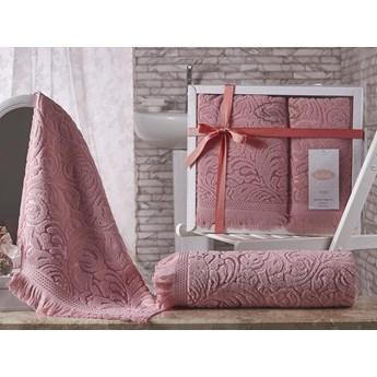 Bilge Ręcznik bawełniany frotte ESRA/1687/pink 50x90+70x140 kpl.