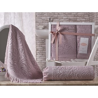 Bilge Ręcznik bawełniany frotte ESRA/1687/rose 50x90+70x140 kpl.