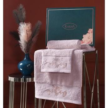 Bilge Ręcznik bawełniany frotte MIRA/3452/powder 50x90+70x140 kpl.