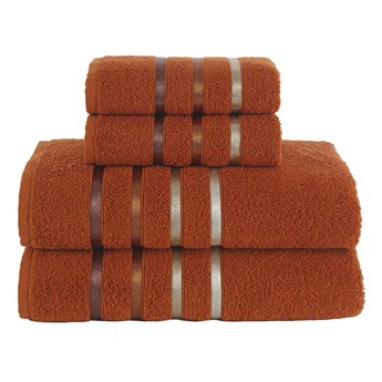 Ręcznik bawełniany frotte BALE/953/brick 2x50x80+2x70x140 kpl.