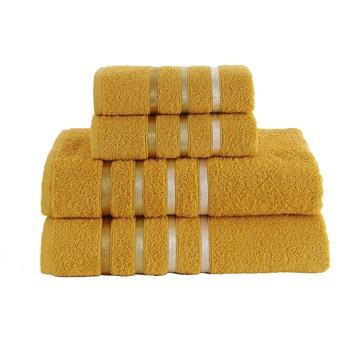Bilge Ręcznik bawełniany frotte BALE/953/dark yellow 2x50x80+2x70x140 kpl.