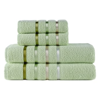 Ręcznik bawełniany frotte BALE/953/light green 2x50x80+2x70x140 kpl.