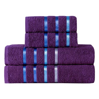 Bilge Ręcznik bawełniany frotte BALE/953/purple 2x50x80+2x70x140 kpl.