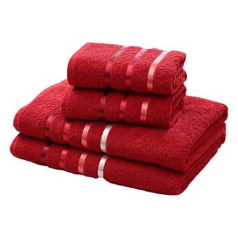 Bilge Ręcznik bawełniany frotte BALE/953/red 2x50x80+2x70x140 kpl.