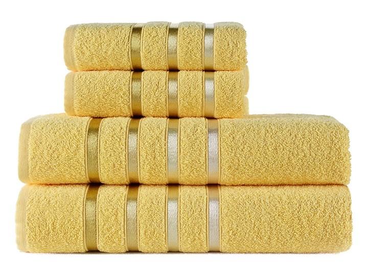 Bilge Ręcznik bawełniany frotte BALE/953/yellow 2x50x80+2x70x140 kpl. Bawełna 70x140 cm Ręcznik kąpielowy 50x80 cm Komplet ręczników Kolor Żółty