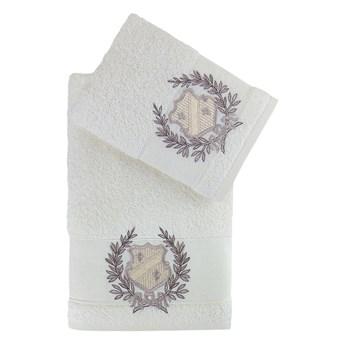 Bilge Ręcznik bawełniany frotte DAVIS/3414/cream 50x90+70x140 kpl.