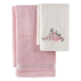 Bilge Ręcznik bawełniany frotte ELVIN/3310/powder 50x90+70x140 kpl.