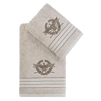 Bilge Ręcznik bawełniany frotte KAVELL/3676/beige 50x90+70x140 kpl.