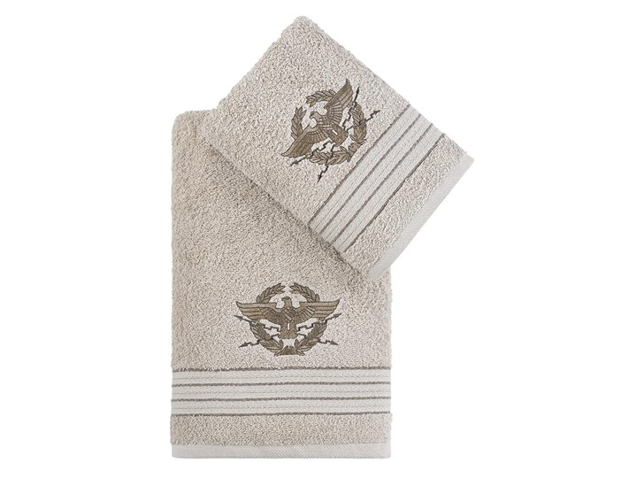 Bilge Ręcznik bawełniany frotte KAVELL/3676/beige 50x90+70x140 kpl. Bawełna Komplet ręczników 70x140 cm Ręcznik kąpielowy 50x90 cm Kolor Beżowy