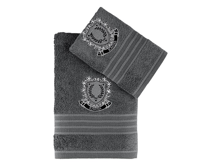 Bilge Ręcznik bawełniany frotte PAMES/3663/dark grey 50x90+70x140 kpl. 70x140 cm 50x90 cm Ręcznik kąpielowy Bawełna Komplet ręczników Kolor Szary
