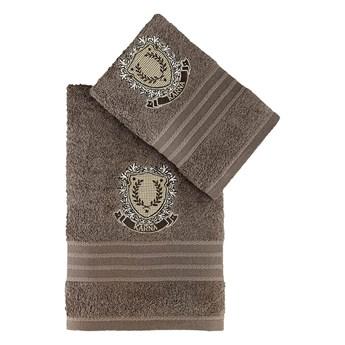 Bilge Ręcznik bawełniany frotte PAMES/3663/milky brown 50x90+70x140 kpl.