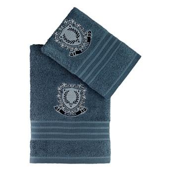 Bilge Ręcznik bawełniany frotte PAMES/3663/petrol 50x90+70x140 kpl.