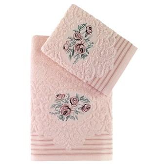 Bilge Ręcznik bawełniany frotte STELLA/3666/salmon 50x90+70x140 kpl.