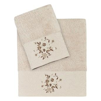 Bilge Ręcznik bawełniany frotte VIOLA/1358/cappuccino 50x90+70x140 kpl.