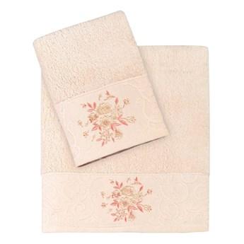 Bilge Ręcznik bawełniany frotte VIOLA/1358/salmon 50x90+70x140 kpl.