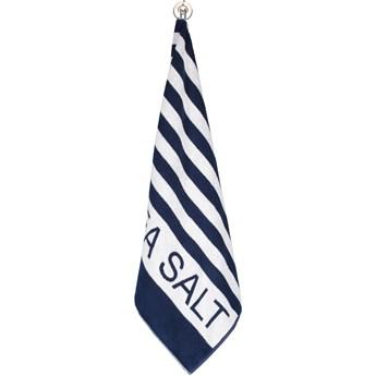 Ręcznik bawełniany 80x180 Sea Salt Sand granatowo – biały pasy, Cawö