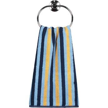 Ręcznik bawełniany 70x140 Tape błękitny, Cawö