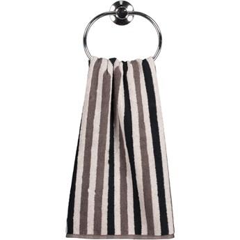 Ręcznik bawełniany 50x100 Tape brązowy, Cawö