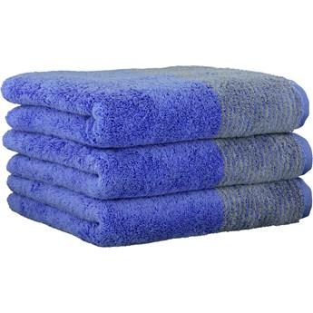 Ręcznik bawełniany 80x150 Two-Tone niebieski, Cawö