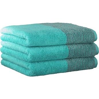 Ręcznik bawełniany 80x150 Two-Tone turkusowy, Cawö
