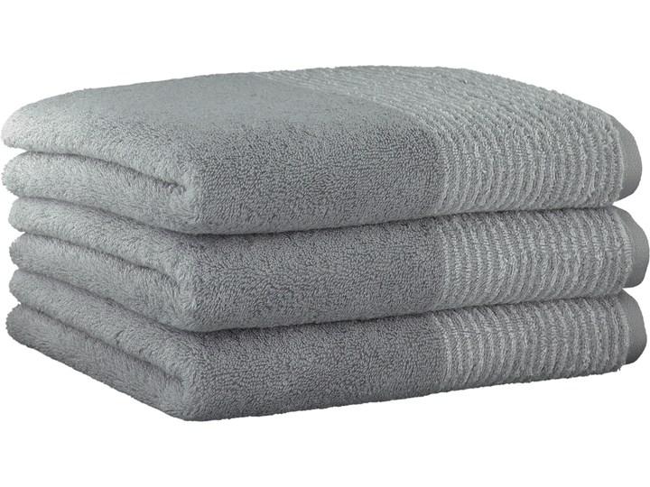 Ręcznik bawełniany 50x100 Two-Tone platynowy, Cawö