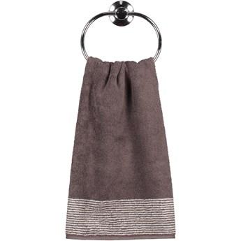 Ręcznik bawełniany 30x50 Two-Tone brązowy, Cawö