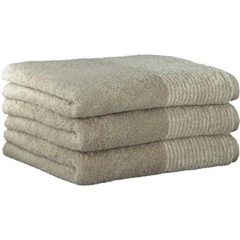 Ręcznik bawełniany 80x150 Two-Tone piaskowy, Cawö